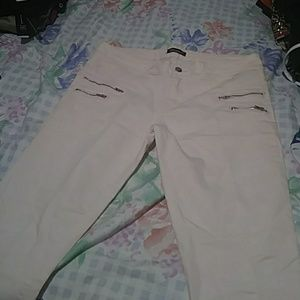 Women stretchy jeans light pink